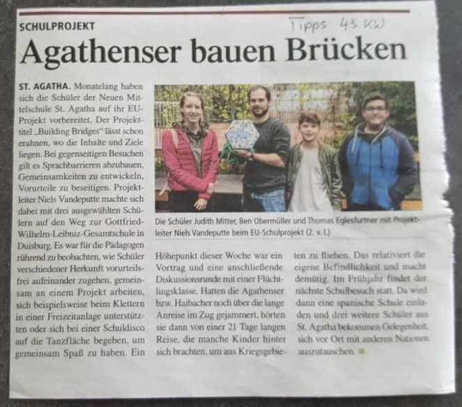 Local newspaper article